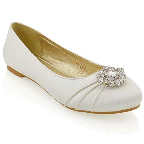 Essex glam scarpa donna decolleté da sposa avorio in raso eu 38
