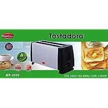 TOSTADORA Tostador Metalica DE 2 Ranuras LARGAS 4 Tostadas REBANADAS Metal