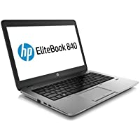 HP EliteBook 840 G1 14-inch Ultrabook (Intel Core i5 4th Gen, 8GB Memory, 180GB SSD, WiFi, WebCam, Windows 10 Professional 64-bit) (Certified Refurbished)