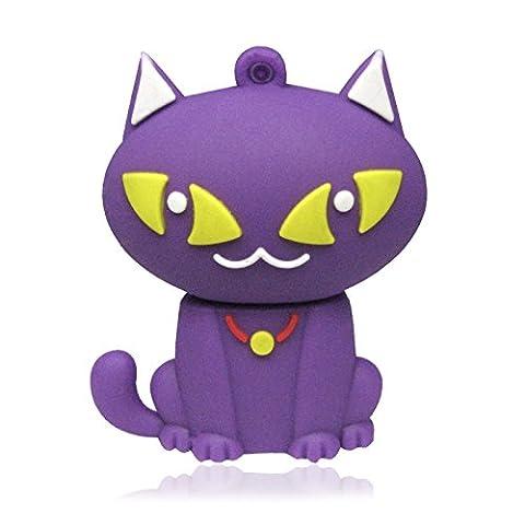 818-Shop no19500030032 Hi-Speed 2.0 USB flash drive 32GB Curious cat 3D violet