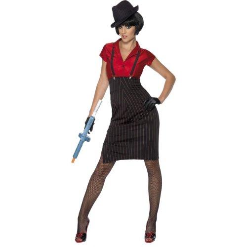 Smiffys Karneval Damen Kostüm Gangsterbraut Nadelstreifen Gr.S (Nadelstreifen Damen Kostüme)