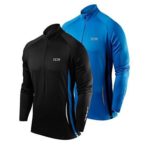 TCA Winter Run Men's Half-Zip Long Sleeve Running Top