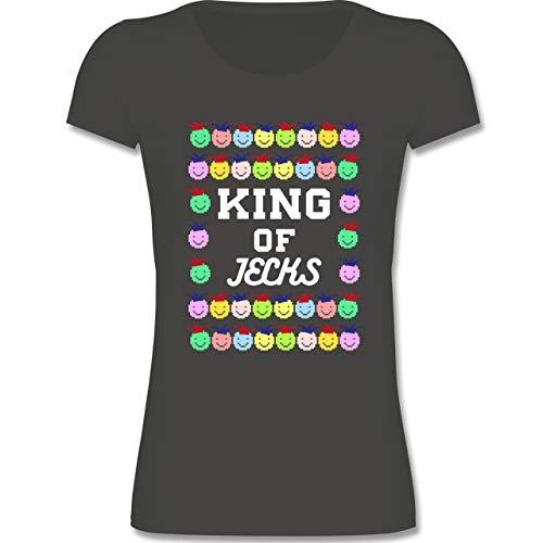 Karneval & Fasching Kinder - King of Jecks - 140 (9-11 Jahre) - Anthrazit - F131K - Mädchen Kinder ()