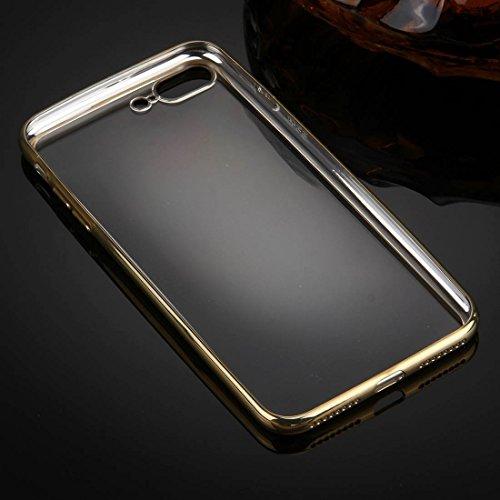 Für iPhone 7 Plus galvanisieren transparente weiche TPU Schutzhülle DEXING ( Color : Gold ) Gold