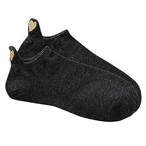 Tosonse Frauen-Beiläufige Art- Und Weisewomensocken Unregelmäßige Schwarze Socken-Herz-Baumwollsocken-Sport-Kurze Nette Geschenk-Socken-Zwischenlagen-Socken