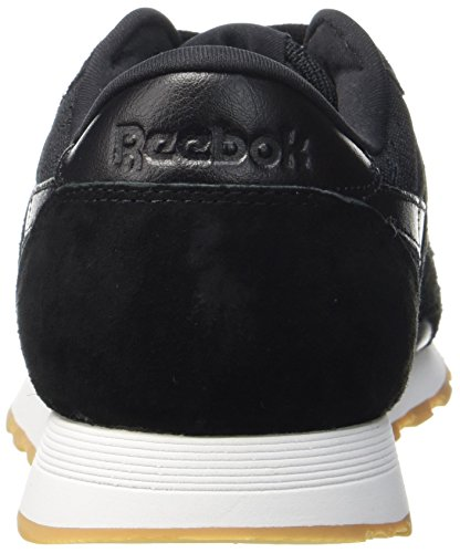 Reebok CL Nylon HS, Scarpe da Ginnastica Basse Uomo Nero (Black / White-gum)