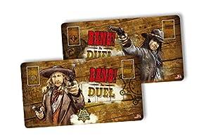 ABACUSSPIELE aba38162-Bang. Bang. The Duel Jugador Alfombrillas Tarjeta Juego-Edición Limitada