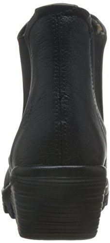 Fly London Womens Phil Touch Wedge Leather Boots En Cuir Noir