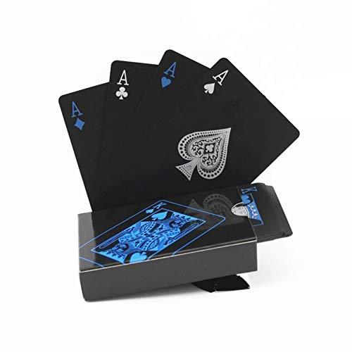 ChYoung Qualität PVC Poker Wasserdichte Schwarze Spielkarten Box-Kartendeck