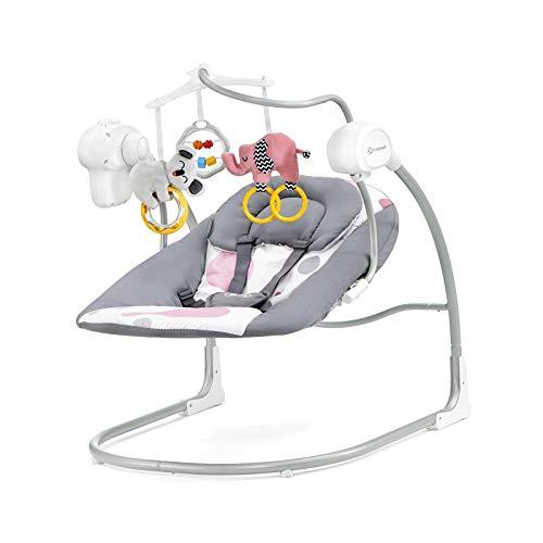 Kinderkraft Minky Balancelle Transat Jouet/Mélodie Rose