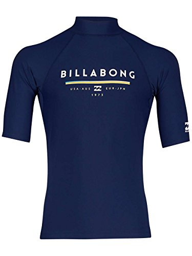 G.S.M. Europe - Billabong Herren Unity SS Rash Guard, Navy, XL (Billabong-box)