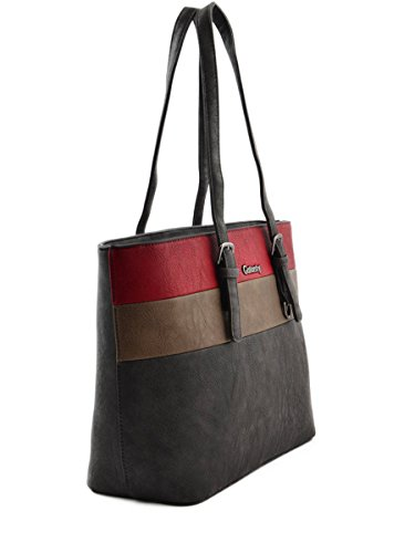 Miniprix sac classeur, Borsa tote donna Nero nero taglia unica Rouge-Tricolore