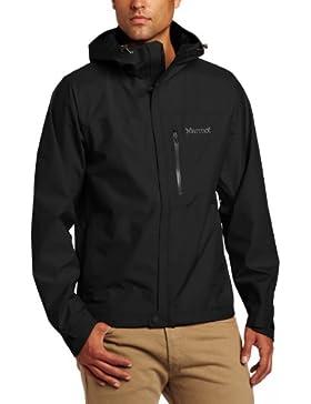 Marmot Minimalist - Chaqueta impermeable para hombre, color negro, talla L
