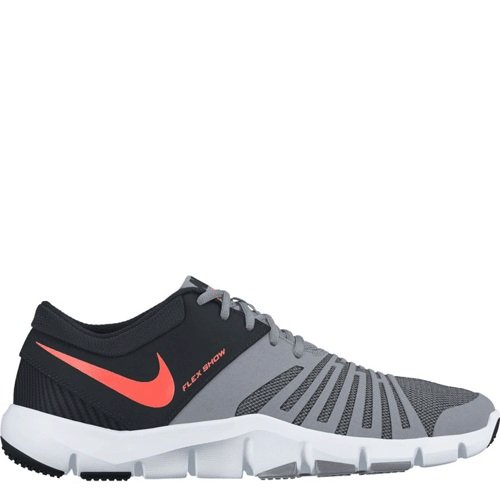 2f18532f54287 Buy Nike Men s Flex Show TR5 Grey and Black Training Shoes on Amazon ...