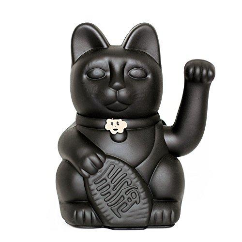 Gatete. El clasico Gato de la Suerte o la Fortuna o Maneki-Neko en divertidos colores. NEGRO: