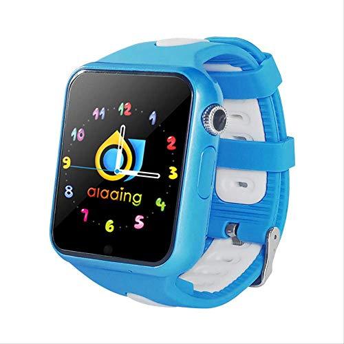 GYFKK Intelligente Uhr Smartwatch Stand-Alone-Karte Anruf GPS Positionierung 1,54 Zoll Touchscreen Wasserdicht Unterstützung Multi-chinesische Wörter Multi-Country-Blau
