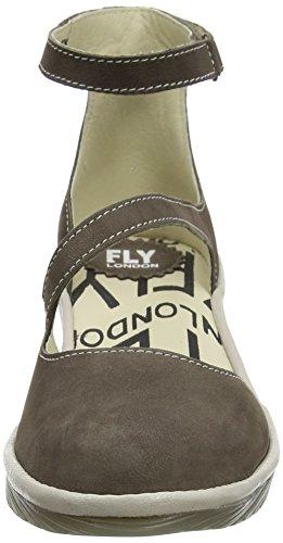 FLY London Plan717, Escarpins Femme Marron (Ground/Concrete 007)
