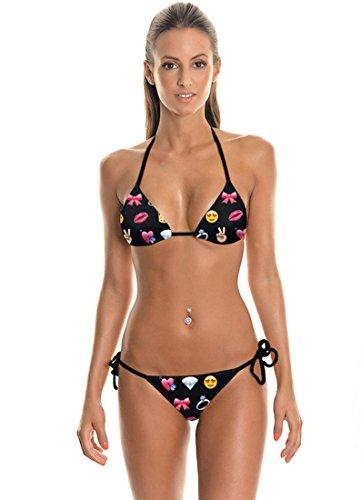 THENICE Damen Bikini-Sets Lips