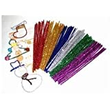 100 Glitter Pipe Cleaners