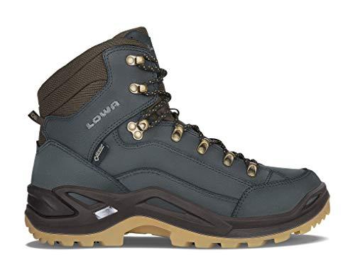 Lowa Herren Renegade GTX MID Trekking- & Wanderstiefel, Blau (Navy/Miele 6961), 44.5 EU Mountain Suede Boot