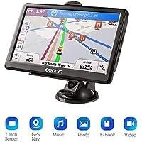 GPS per Auto, GPS Navigatore Satellitare con Schermo 7 Pollici, Avviso Traffico Vocale e Limite di Velocità Promemoria con Aggiornamenti Gratuiti a Vita di Mappa Europea, Adatto per 52 Paesi Europei