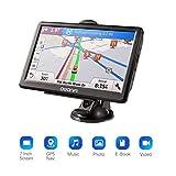GPS per Auto,GPS Navigatore Satellitare con Schermo da 7 Pollici,Avviso Traffico Vocale e Limite di Velocità Promemoria con Aggiornamenti Gratuiti a Vita di Mappa Europea,Adatto per 52 Paesi Europei