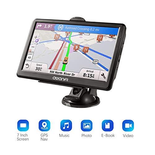 GPS per Auto, GPS Navigatore Satellitare con Schermo 7 Pollici, Avviso Traffico Vocale e Limite di Velocità Promemoria con Aggiornamenti Gratuiti a Vita di Mappa Europea, Adatto per 52 Paesi Euro