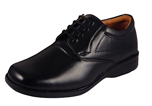 Action Synergy Men's ME13192 Black Formal Shoes