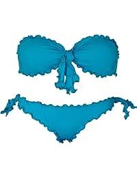 Bikini a fascia Bikinicolors Made in Italy con slip o brasiliana Donna Mare