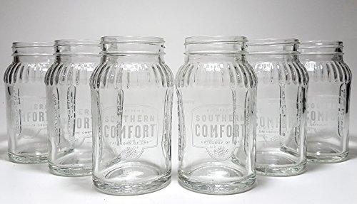 Southern Comfort Gläser-Set - 6x Lynchburg- / Marmeladengläser