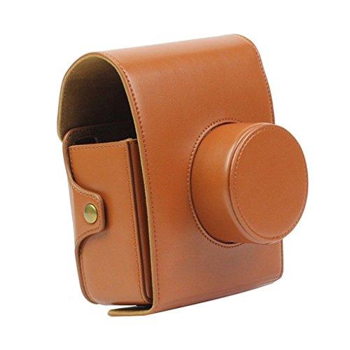 Forusky - Funda piel sintética correa cámara Instax