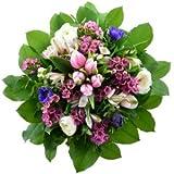 Blumenversand - Blumenstrauß - zum Geburtstag - Frühling- Frühlingsduft - mit rosa Tulpen, Anemonen, Ranunkeln - mit Gratis - Grußkarte versenden