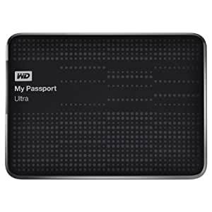 WD My Passport 1 TB Ultra Externe Festplatte (6,4 cm (2,5 Zoll), Kabel, Backup-Software, Passwortschutz, Hardware-Verschlüsselung, autom. Cloud-Backup, USB 2.0, USB 3.0) schwarz