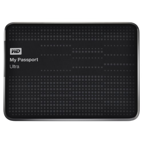 WD My Passport Ultra 500GB USB 3.0 Portable Drive with Auto and Cloud Backup - Black