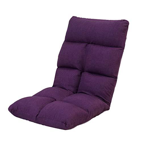 Mode nach Hause ZHILIAN® 5 Dateien Einstellbar Faul Couch Klappstuhl Sofa Boden Liege Lounge-Sessel Familie Schlafzimmer Wohnzimmer Balkon Verwendung (Farbe : Purple) | Garten > Balkon > Balkonstühle | Baumwolle | Mode nach Hause