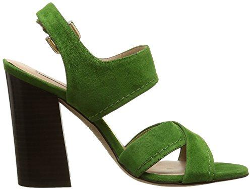 Pura Lopez Ah341, Sandales femme Vert (Velour Vert)