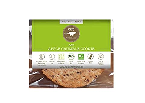 Apple Crumble Cookie by eat Performance (organic biscuit, paleo, no added sugar, gluten free, lactose free, superfood)