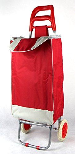 Einkaufstrolley Einkaufswagen Einkaufskorb Einkaufstasche auf Rädern Rot
