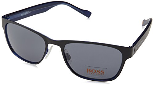 BOSS Orange Herren 0177/S Bn Sonnenbrille, Schwarz (Black Blue/Dark Grey), 55