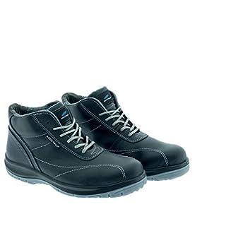 Aboutblu 1926027LA S3 SRC DGUV 112-191, Vieste, Water Repellent Safety Shoe, Unisex, Black/Grey, Leather, Size 46
