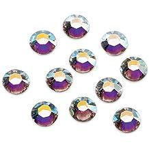 Gütermann / KnorrPrandell 6163201  - Piedras del Strass Hotfix de Swarovski 4mm ronda AB de cristal, 22 piezas / Th