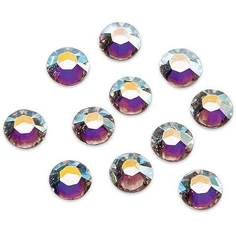 Gütermann / KnorrPrandell 6163201  - Piedras del Strass Hotfix de Swarovski 4mm ronda AB de cristal, 22 piezas /