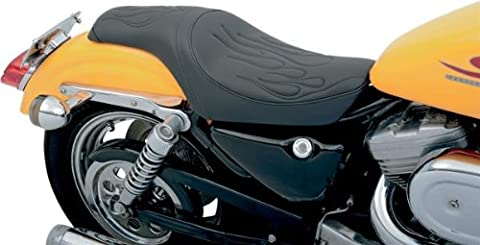 Drag Specialties Predator sitz Flame Harley Davidson Sportster 82-03