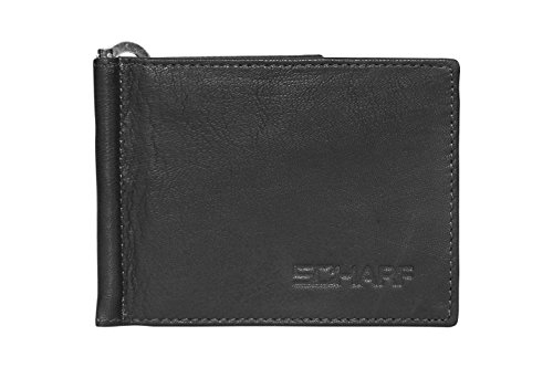 SCHARF Fast Track Something Genuine Leather Money Clip and Card Holder Wallet for Men MWA52