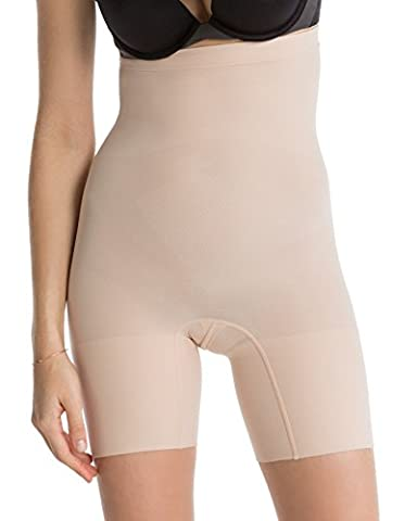 Luxurious Spanx Slimming Shapewear Lightweight and Seamless Higher Power Short, Soft Nude, Large