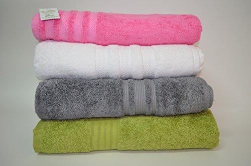 Asciugamani da bagno di lusso 4 pezzi da 80 x 160 cm a 100 x 200
