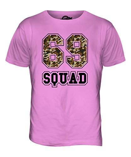 CandyMix Squad 69 Camuffare T-Shirt da Uomo Maglietta Rosa