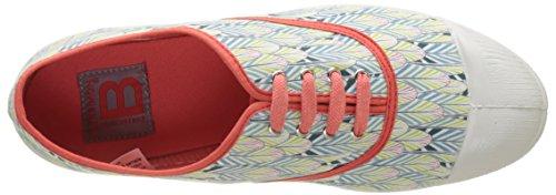 Damen Flach Bensimon korallenfarben Lacet Tennis Plumes Orange UOwwqfSgdx