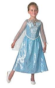 Rubies Disfraz oficial de Elsa musical Frozen de Disney para niñas, disfraz de luz, tamaño mediano producto oficial de la marca
