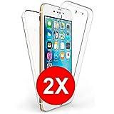 TBOC 2X Funda para iPhone 6 (4.7') - [Dos Unidades] Carcasa [Transparente] Completa [Silicona TPU] Doble Cara [360 Grados] Protección Integral Total Delantera Trasera Lateral Móvil Resistente Golpes